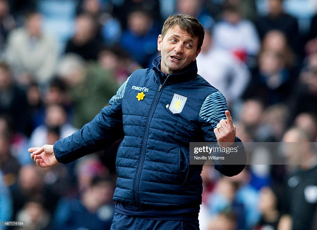Tim Sherwood manager of Aston Villa during the Barclays Premier League match between Aston Villa and Swansea City at Villa Park on March 21, 2015 in Birmingham, England.