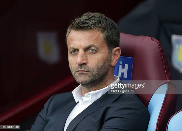Tim Sherwood manager of Aston Villa during the Barclays Premier League match between Aston Villa and Stoke City at Villa Park on October 3 2015 in...