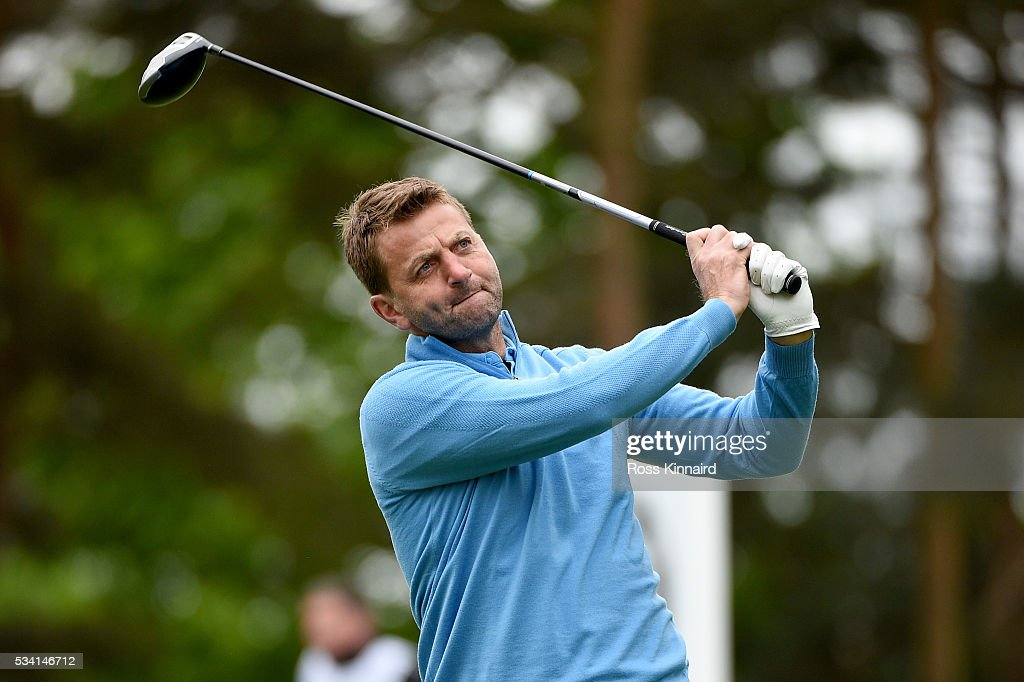 <a gi-track='captionPersonalityLinkClicked' href=/galleries/search?phrase=Tim+Sherwood&family=editorial&specificpeople=4503354 ng-click='$event.stopPropagation()'>Tim Sherwood</a> tees off during the Pro-Am prior to the BMW PGA Championship at Wentworth on May 25, 2016 in Virginia Water, England.