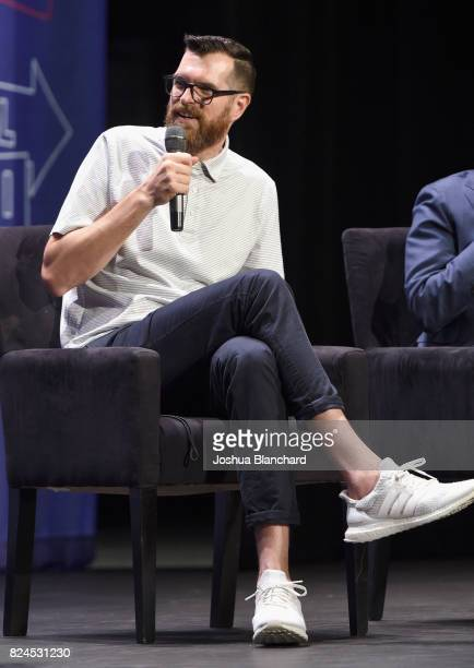 Tim Simons at the 'Meet Veep' panel during Politicon at Pasadena Convention Center on July 30 2017 in Pasadena California