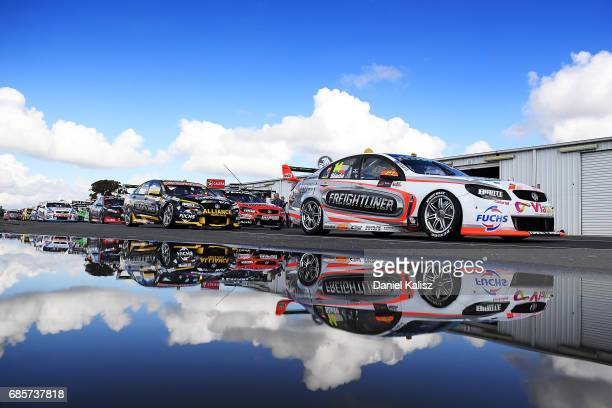 Tim Slade drives the Freightliner Racing Holden Commodore VF during qualifying for race 9 for the Winton SuperSprint which is part of the Supercars...