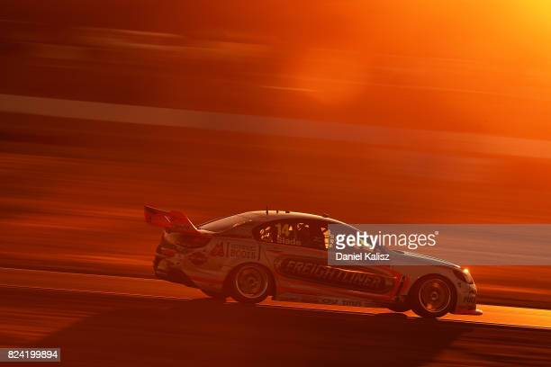 Tim Slade drives the Freightliner Racing Holden Commodore VF during race 15 for the Ipswich SuperSprint which is part of the Supercars Championship...