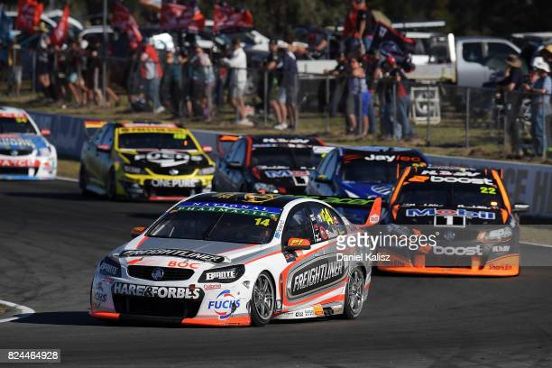 Tim Slade drives the Freightliner Racing Holden Commodore VF during race 16 for the Ipswich SuperSprint which is part of the Supercars Championship...