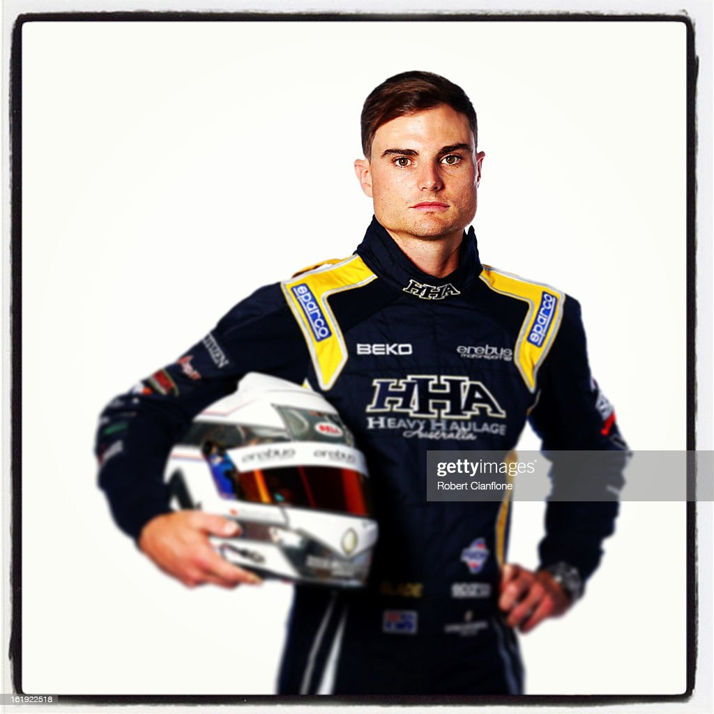 Tim Slade of the Erebus Motorsport V8 Team poses during a V8 Supercars driver portrait session at Eastern Creek on February 15, 2013 in Sydney, Australia.