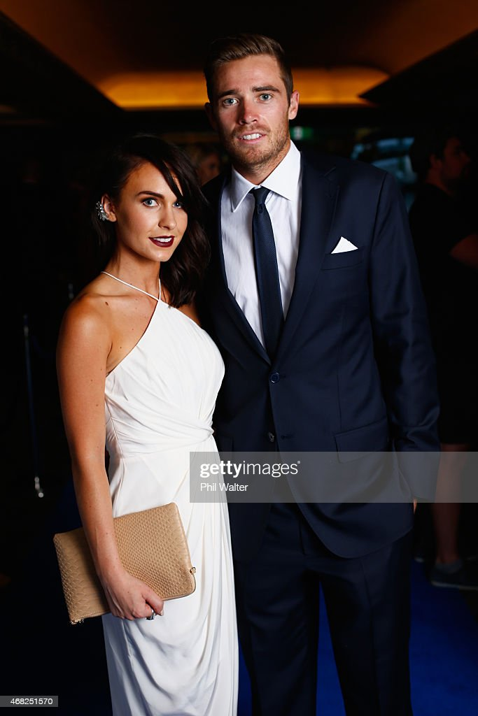 <a gi-track='captionPersonalityLinkClicked' href=/galleries/search?phrase=Tim+Southee&family=editorial&specificpeople=4205733 ng-click='$event.stopPropagation()'>Tim Southee</a> and Brya Fahy arrive for the New Zealand Cricket Awards at the Langham Hotel on April 1, 2015 in Auckland, New Zealand.