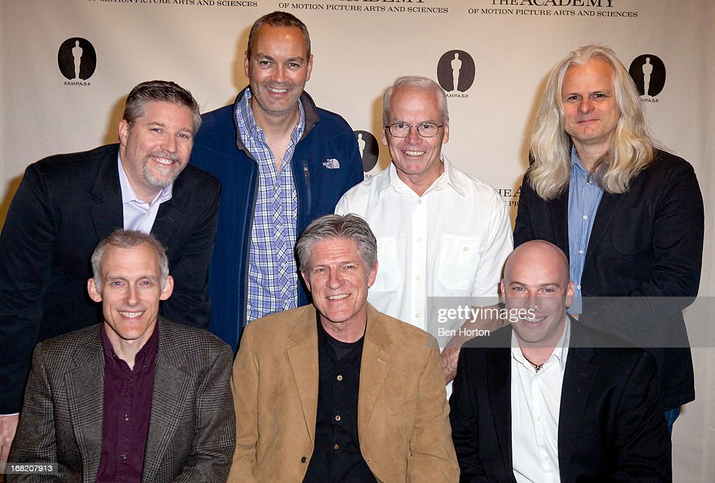 Tim Squyres, Bill Westenhofer, Erik-Jan De Boer, Bill Kroyer, Donald Elliot, Bradley Alexander, and Claudio Miranda attends the Academy of Motion Pictures and Sciences delves into Visual Effects Recipe for 'Life Of Pi' at AMPAS Samuel Goldwyn Theater on May 6, 2013 in Beverly Hills, California.