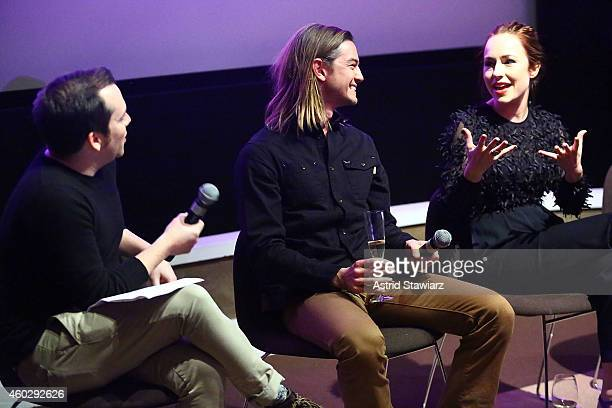 Tim Stack Senior Writer at Entertainment Weekly talks with actors Craig Horner and Sarah Goldberg at Entertainment Weekly And VH1 Host A Special...