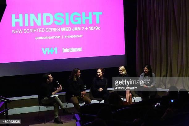 Tim Stack Senior Writer at Entertainment Weekly talks with actors Craig Horner Sarah Goldberg Laura Ramsey and 'Hindsight' writer Emily Fox at...
