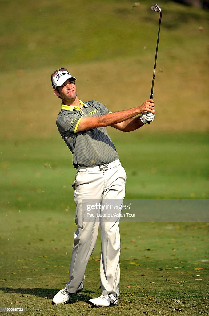 Tim Stewart of Australia plays a shot during round four of the Asian Tour Qualifying School Final Stage at Springfield Royal Country Club on January 26, 2013 in Hua Hin, Thailand.