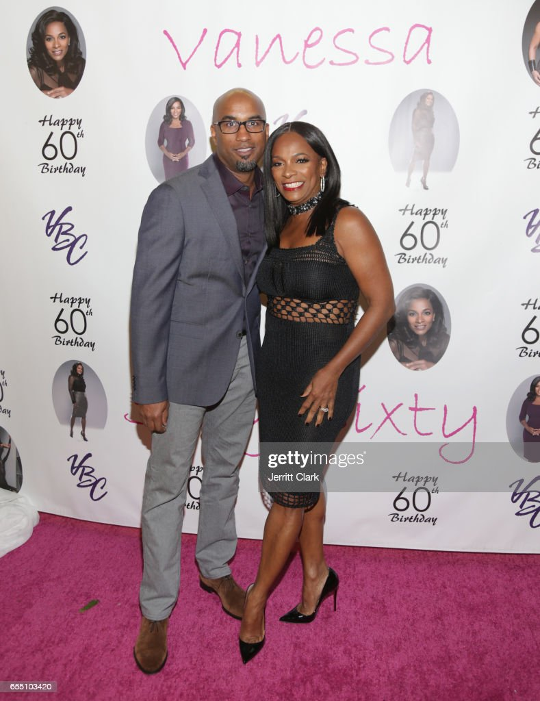 Tim Story and Vanessa Bell Calloway attend Vanessa Bell Calloway's 60th Birthday Bash at Cicada on March 18, 2017 in Los Angeles, California.