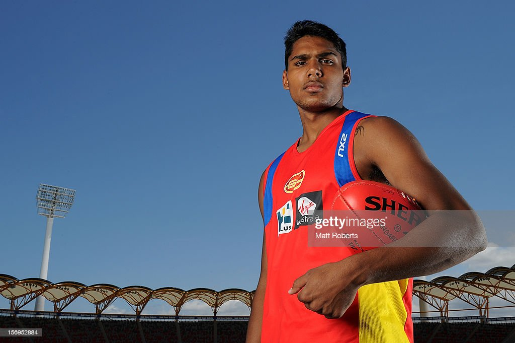 Tim Sumner of the Suns poses for a photograph after a Gold Coast Suns pre-season AFL training session at Metricon Stadium on November 26, 2012 on the Gold Coast, Australia.