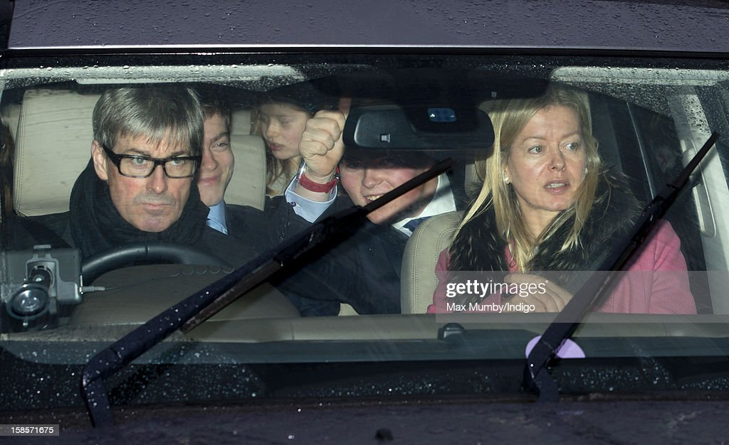 Tim Taylor and Lady Helen Taylor attend a Christmas lunch for members of the Royal Family hosted by Queen Elizabeth II at Buckingham Palace on December 19, 2012 in London, England.