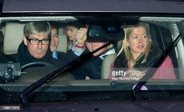 Tim Taylor and Lady Helen Taylor attend a Christmas lunch for members of the Royal Family hosted by Queen Elizabeth II at Buckingham Palace on...