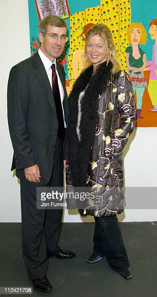 Tim Taylor and Lady Helen Taylor during Art Frieze Exhibition at Regents Park in London Great Britain