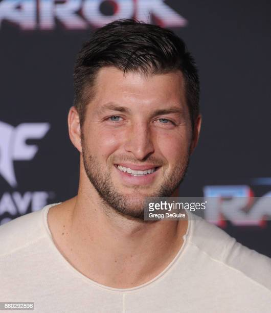 Tim Tebow arrives at the premiere of Disney and Marvel's 'Thor Ragnarok' at the El Capitan Theatre on October 10 2017 in Los Angeles California