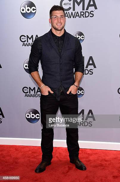 Tim Tebow attends the 48th annual CMA Awards at the Bridgestone Arena on November 5 2014 in Nashville Tennessee