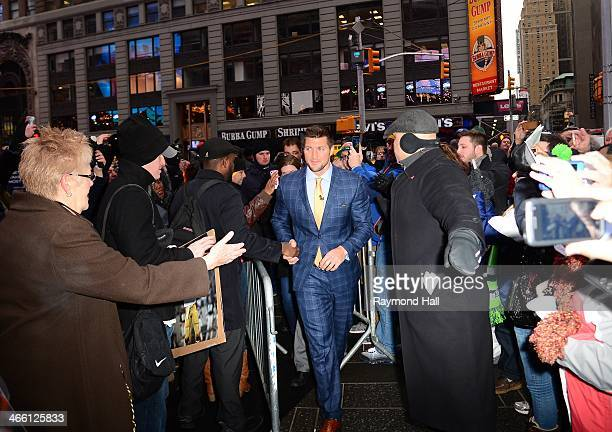 Tim Tebow is seen at ABC's 'Good Morning America'on January 31 2014 in New York City