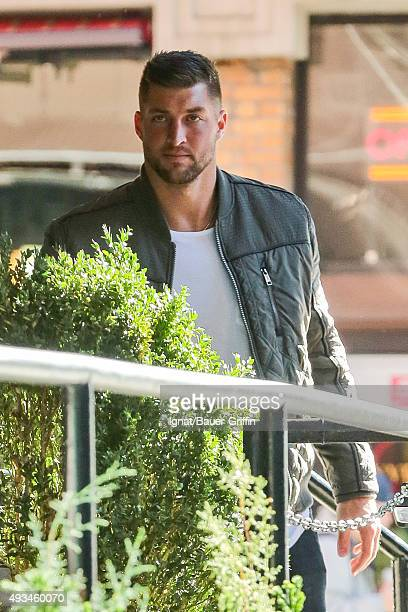 Tim Tebow is seen on October 20 2015 in New York City