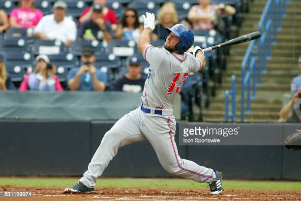 Tim Tebow of the Mets hits the ball to the opposite field but the Yankees outfielder came up with a tremendous play that even Tebow has to smile...