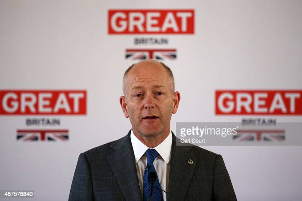 Tim Tozer MD Vauxhall Motors speaks during a reception following a photocall on September 10 2015 in London England Motor manufacturing Executives...
