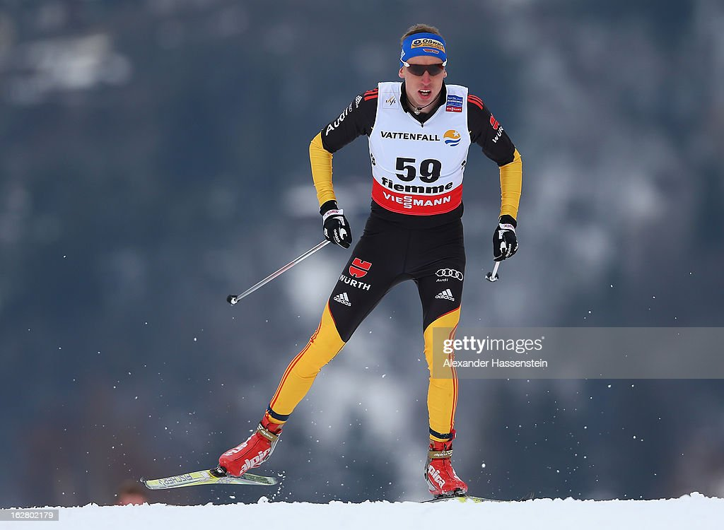 Tim Tscharnke of Germany in action during the Men's Cross Country Individual 15km at the FIS Nordic World Ski Championships on February 27, 2013 in Val di Fiemme, Italy.