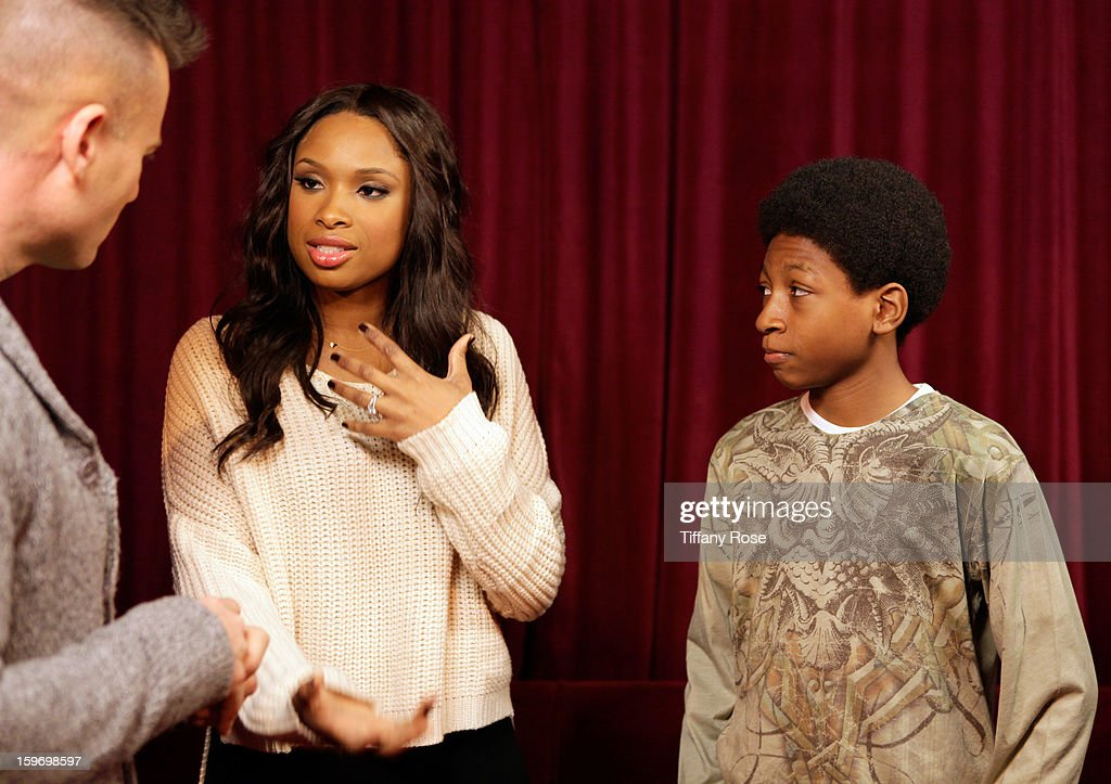 Tim Vincent, <a gi-track='captionPersonalityLinkClicked' href=/galleries/search?phrase=Jennifer+Hudson&family=editorial&specificpeople=234833 ng-click='$event.stopPropagation()'>Jennifer Hudson</a> and Skylan Brooks attend Day 1 of Tea of A Kind at Village At The Lift 2013 on January 18, 2013 in Park City, Utah.