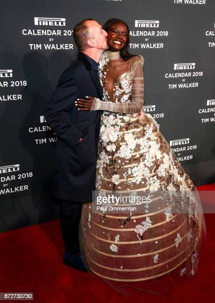 Tim Walker and Duckie Thot attend Pirelli Calendar 2018 Launch Gala at The Manhattan Center on November 10 2017 in New York City