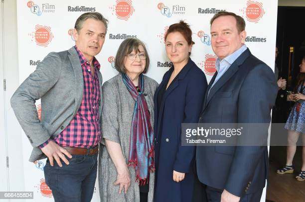 Tim Watson Gillian Reynolds Louiza Patikas and Sean O'Connor attend the BFI Radio Times TV Festival at BFI Southbank on April 9 2017 in London England