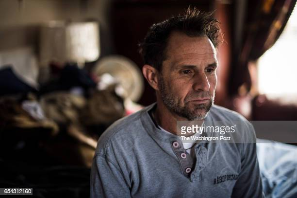 Tim Weinberger a maintenance business owner and Trump supporter sits in his room for a photo in Murfreesboro Tenn on Thursday March 16 2017...