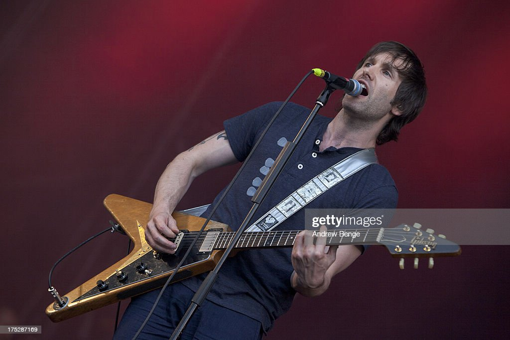<a gi-track='captionPersonalityLinkClicked' href=/galleries/search?phrase=Tim+Wheeler&family=editorial&specificpeople=171950 ng-click='$event.stopPropagation()'>Tim Wheeler</a> of Ash performs on stage on Day 2 of Kendal Calling Festival at Lowther Deer Park on July 27, 2013 in Kendal, England.