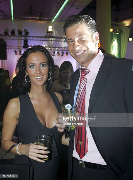 Tim Wiese and a friend attend the Werder Bremen Green White Night 2006 on February 4 2006 at The Congress Centre in Bremen Germany