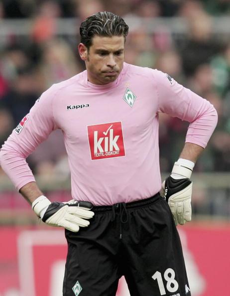 Tim Wiese goalkeeper of Bremen looks dejected during the Bundesliga ...