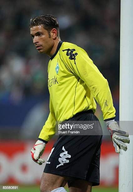 Tim Wiese of Bremen during the UEFA Champions League Group B second leg match between Werder Bremen and Panathinaikos at the Weser stadium on...