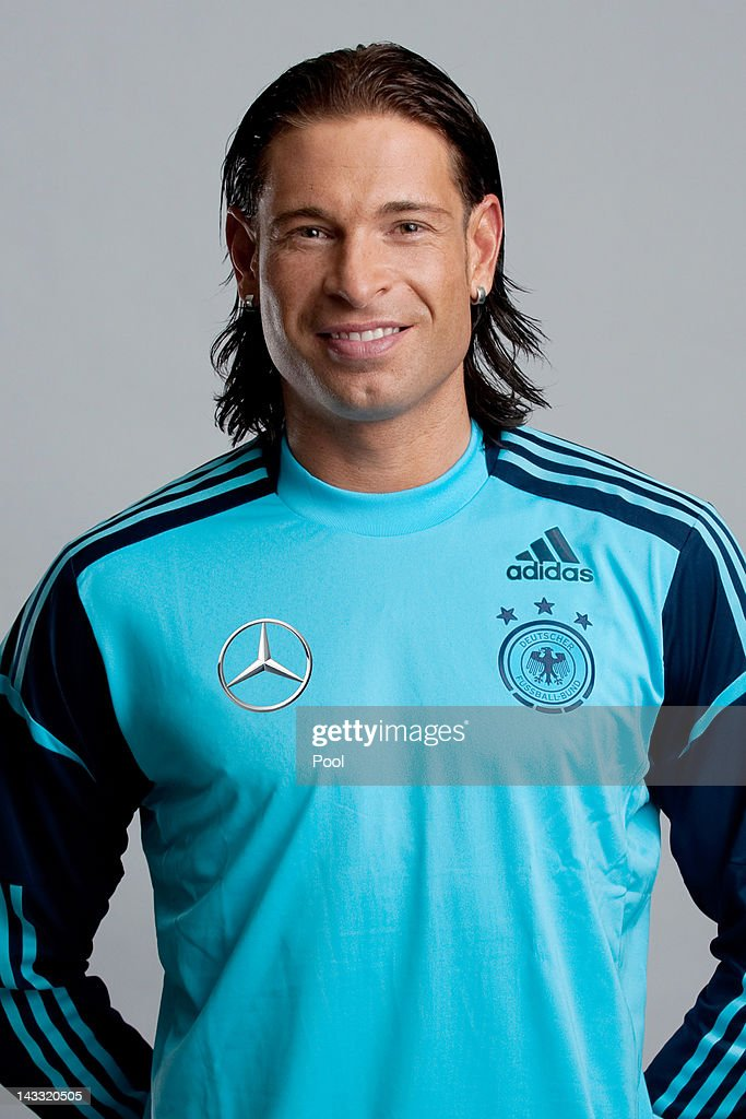<a gi-track='captionPersonalityLinkClicked' href=/galleries/search?phrase=Tim+Wiese&family=editorial&specificpeople=635015 ng-click='$event.stopPropagation()'>Tim Wiese</a> of Germany poses during a national team photocall on November 14, 2011 in Hamburg, Germany.