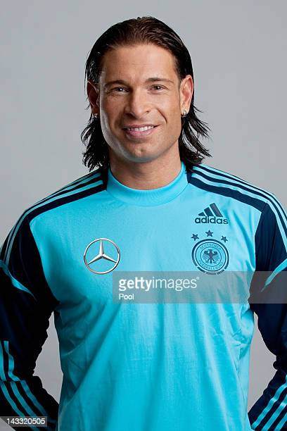 Tim Wiese of Germany poses during a national team photocall on November 14 2011 in Hamburg Germany