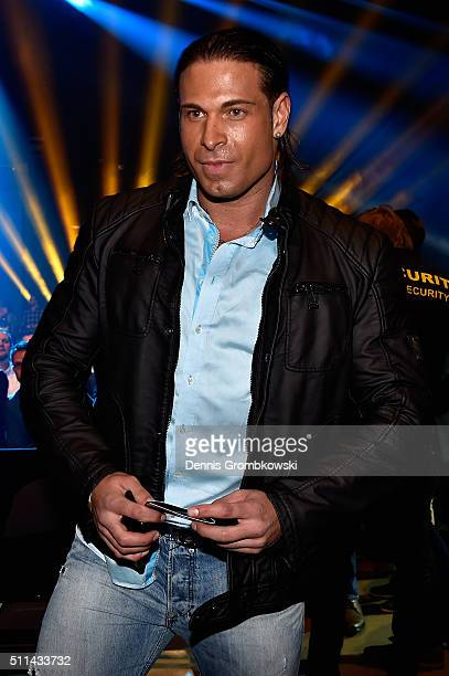 Tim Wiese poses prior to the WBA Super Middleweight World Championship fight at KoenigPilsner Arena on February 20 2016 in Oberhausen Germany