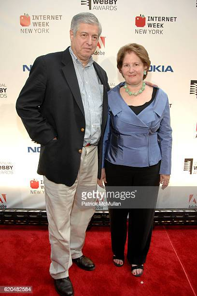 Tim Zagat and Nina Zagat attend Arrivals for The 12 Annual Webby Awards at Cipriani Wall Street on June 10 2008 in New York City