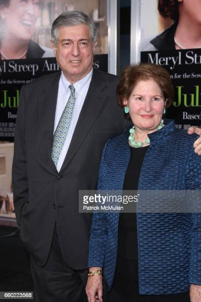 Tim Zagat and Nina Zagat attend COLUMBIA PICTURES Presents the World Premiere of JULIE JULIA at Ziegfeld Theatre on July 30 2009 in New York City
