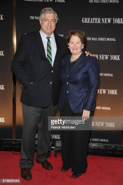 Tim Zagat and Nina Zagat attend THE WALL STREET JOURNAL's 'GREATER NEW YORK' Launch Celebration at Gotham Hall on April 26th 2010 in New York City