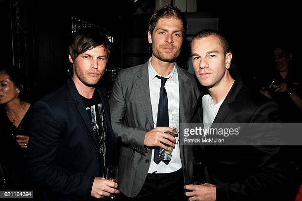 Tim Zaragoza Jay Paavonpera and Josh Reed attend MENSTYLECOM 'The Women of Fashion 2008' Party at SALON de NING on May 28 2008 in New York City