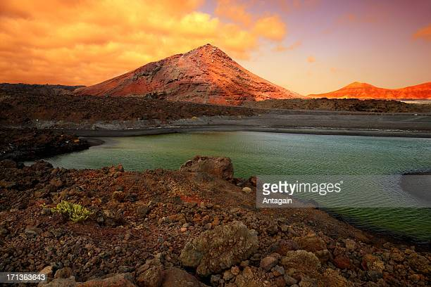 Timanfaya National Park at Lanzarote island, Spain