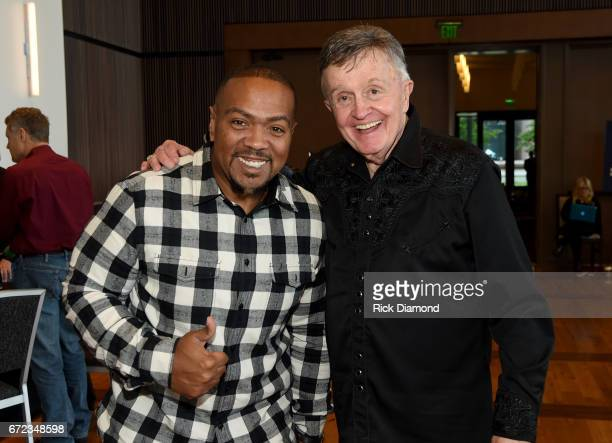 Timbaland and Bill Anderson atten the Brad Paisley LOVE AND WAR Album Launch and 2017 Sarah Cannon Band Against Cancer Event on April 24 2017 in...