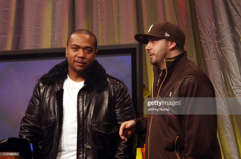 <a gi-track='captionPersonalityLinkClicked' href=/galleries/search?phrase=Timbaland+-+Rapper&family=editorial&specificpeople=546742 ng-click='$event.stopPropagation()'>Timbaland</a> and DJ Green Lantern during Jay Z Performs on 106 & Park with Nas, Pharrell and <a gi-track='captionPersonalityLinkClicked' href=/galleries/search?phrase=Timbaland+-+Rapper&family=editorial&specificpeople=546742 ng-click='$event.stopPropagation()'>Timbaland</a> - November 8, 2006 at BET Studios in New York City, New York, United States.