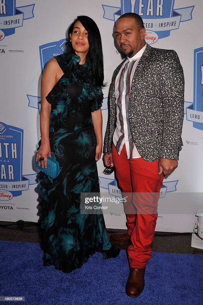 Timbaland and Monique Mosley attend the 2015 Boys and Girls Clubs of America National Youth of the Year celebration at the National Building Museum on September 29, 2015 in Washington, DC.
