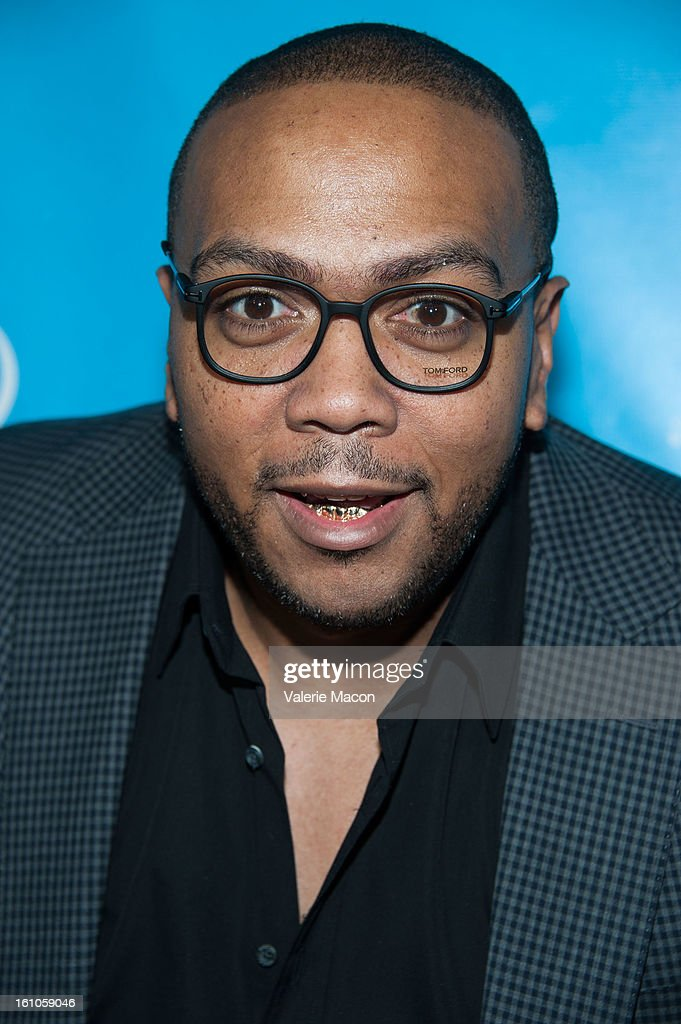 <a gi-track='captionPersonalityLinkClicked' href=/galleries/search?phrase=Timbaland+-+Rapper&family=editorial&specificpeople=546742 ng-click='$event.stopPropagation()'>Timbaland</a> arrives at the mPowering ActionPre-GRAMMY Launch Event at The Conga Room at L.A. Live on February 8, 2013 in Los Angeles, California.