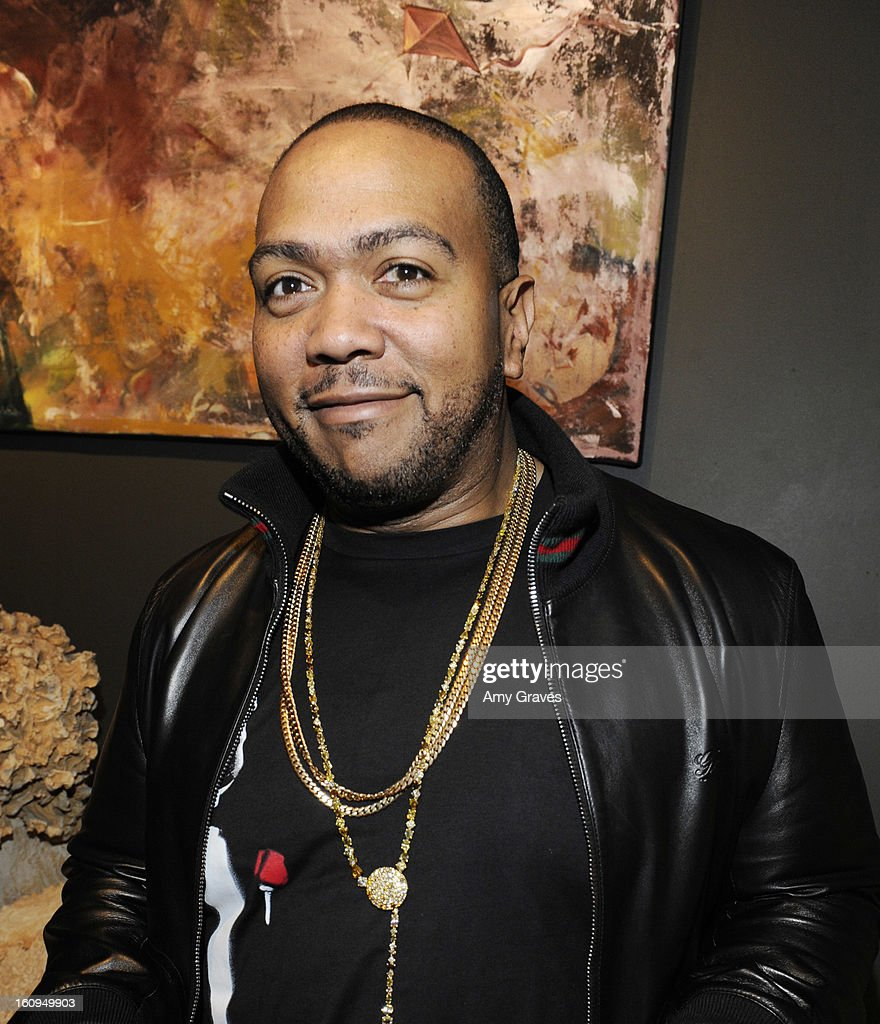 <a gi-track='captionPersonalityLinkClicked' href=/galleries/search?phrase=Timbaland&family=editorial&specificpeople=546742 ng-click='$event.stopPropagation()'>Timbaland</a> attends Darren Le Gallo's 'Nothing You Don't Know' Exhibition hosted by Trigg Ison Fine Art, Amy Adams and Justin Timberlake at Trigg Ison Fine Arts Gallery on February 7, 2013 in West Hollywood, California.