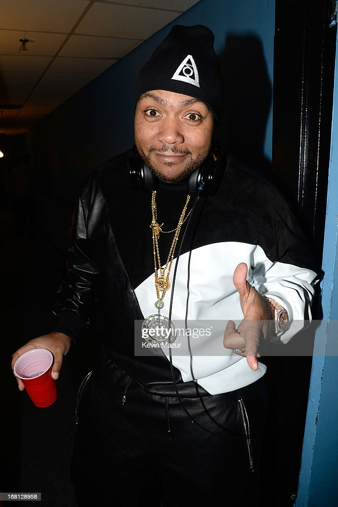 Timbaland backstage during MasterCard Priceless Premieres presents Justin Timberlake exclusive New York performance at Roseland Ballroom on May 5, 2013 in New York City.