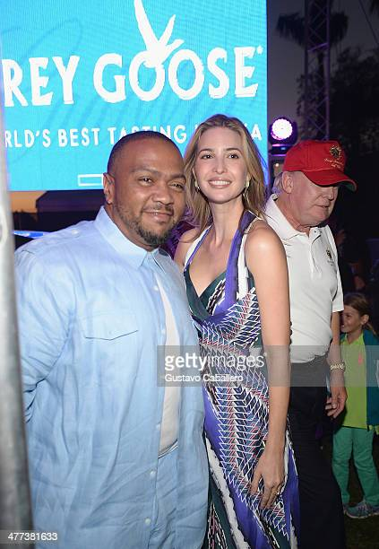 Timbaland Ivanka Trump and Donald Trump attends GREY GOOSE Vodka and the Cadillac Championship Toast Travie McCoy at Trump National Doral on March 8...