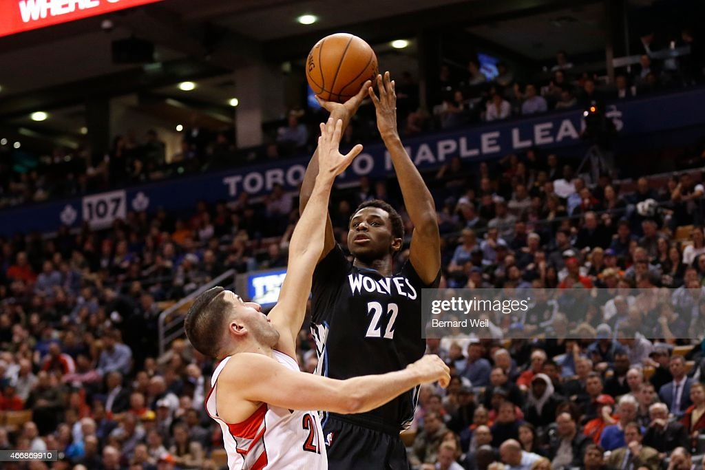 minnesota timberwolves vs toronto raptors pictures getty