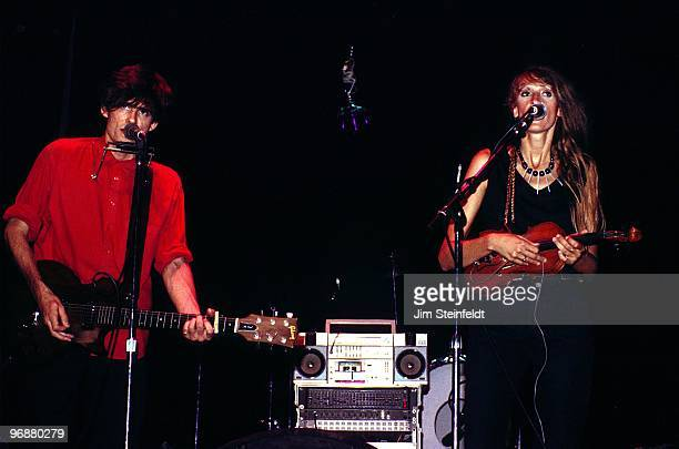Timbuk 3 Pat MacDonald and Barbara K MacDonald perform at First Avenue nightclub in Minneapolis Minnesota in September 1986